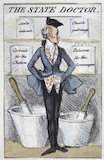 The State Doctor' caricature, Europe, 19th century.