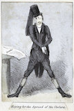 Hoping for the spread of the cholera' caricature of an undertaker hoping for cholera, Europe, 19th century.