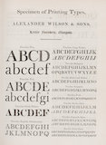 Specimen of Printing Types, by Alexander Wilson & Sons, Letter Founders, Glasgow.