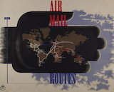 Air Mail Routes - c.1937