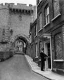 Lewes - postman delivering mail - 1937