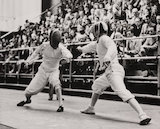 J E Lloyd's 'Olympic fencing win for Britain', 1948