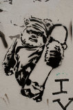 Graffiti in East London of teddy bear