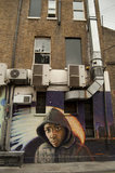 Graffiti portrait of boy in East London by Jimmy C