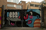 Graffiti in East London by Numskull and Mr Penfold