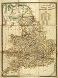 Cruhley's Railway Map of England and Wales 1810