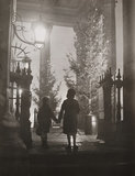 Children gaze at the Christmas tree, St Martin in the Fields, London, 1937