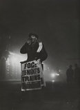 Newspaper seller provided this fog sign in Bouverie Street.