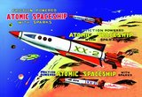 Friction Powered Atomic Spaceship with Sparks 1950