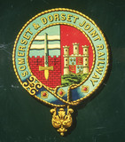 Coat of arms of the Somerset and Dorset Joint Railway.