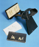 Whittington stereoscope with slides, 1925-1940.