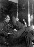 Albert Einstein and Niels Bohr smoking, c 1920.
