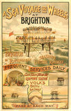 Volk's Brighton & Rottingdean Seashore Electric Railway, poster.