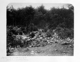 Slaughter pen, foot of Little Round Top Hill, Gettysburg, Pennsylvania, July 1863.