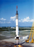 Launch of Alan Shepard's Redstone rocket (MR3), 1961.