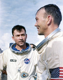 Gemini 10 astronauts John Young and Michael Collins, 1965.
