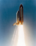 Space Shuttle launch, 1980s.