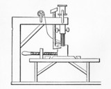 Plan of Saint's Sewing Machine, c 1790.