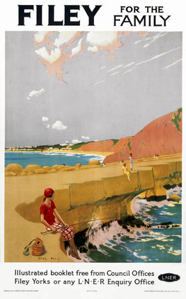 'Filey for the Family', LNER poster, 1923-1947.