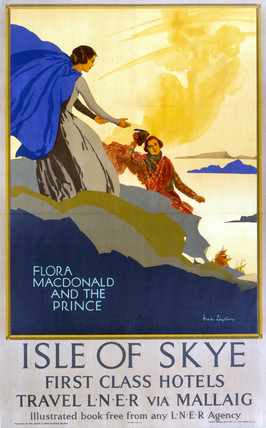 'Flora MacDonald and the Prince', LNER poster, 1923-1947.
