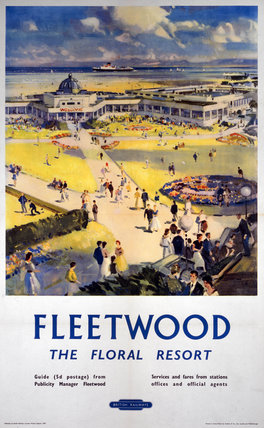 'Fleetwood - The Floral Resort', BR (LMR) poster, 1948-1965.