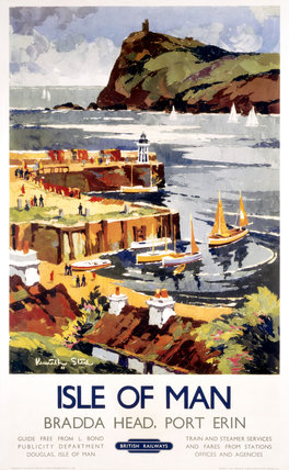 'Isle of Man', BR (LMR) poster, 1948-1965.