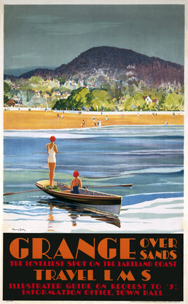 'Grange over Sands', LMS poster, 1923-1947.