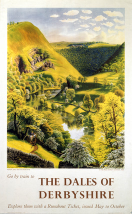 'The Dales of Derbyshire', BR (LMR) poster, c 1950s.