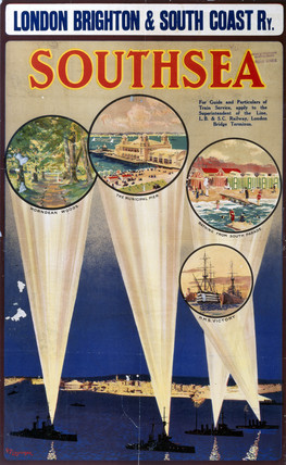 'Southsea', LBSCR poster, c 1910s.