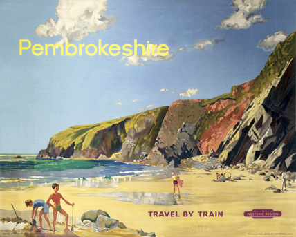 'Pembrokeshire', BR (WR) poster, 1961.