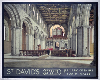 'St David's', GWR poster, c 1930s.