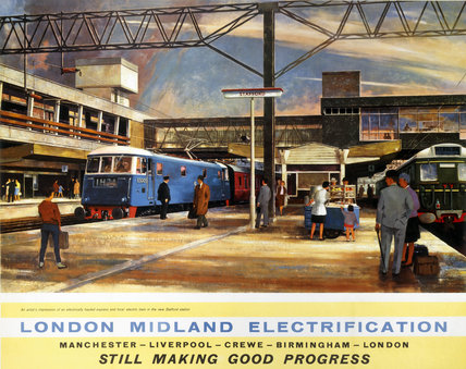 'London Midland Electrification', BR poster, 1963.