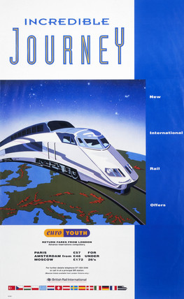 'Incredible Journey - Euro Youth', BR poster, 1992.