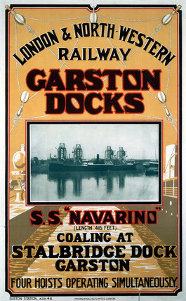 'Garston Docks', LNWR poster, early 20th century.