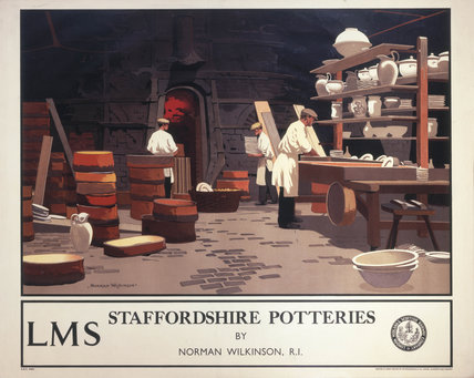 'Staffordshire Potteries', LMS poster, 1923-1947.
