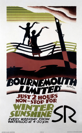 'Bournemouth Limited', SR poster, 1929.