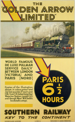 'The Golden Arrow Limited', SR poster, 1929.