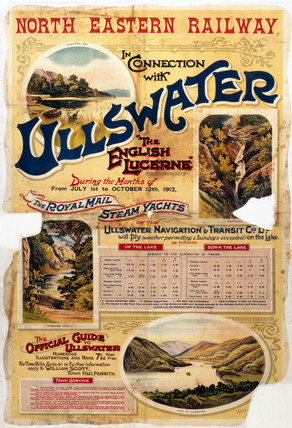 'Ullswater - The English Lucerne', NER poster, 1912.