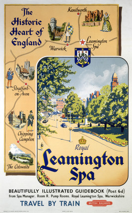 'The Historic Heart of England: Royal Leamington Spa', BR poster, 1948-1965.