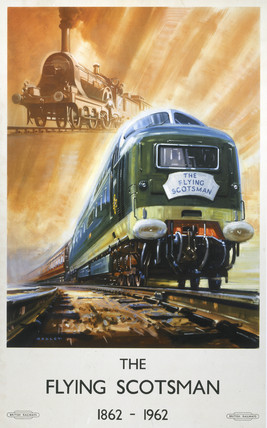 'The Flying Scotsman', BR poster, 1962.