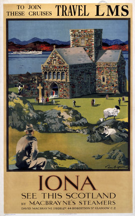 'Iona', LMS poster, 1923-1947.