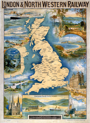Great Britain, LNWR poster, early 20th century.