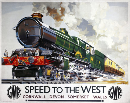 'Speed to the West', GWR poster, 1939.