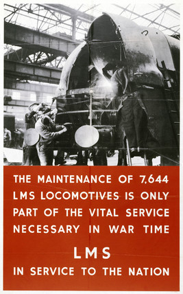 'LMS in Service to the Nation', poster, 1939-1945.