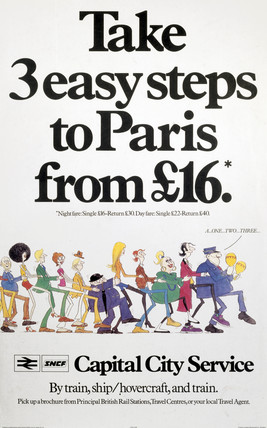'Take 3 Easy Steps to Paris from £16', BR(CPU) poster, 1980.