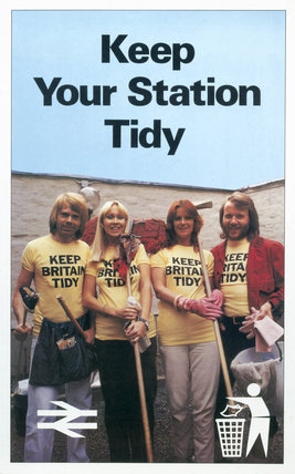 'Keep Your Station Tidy', BR poster, 1979.