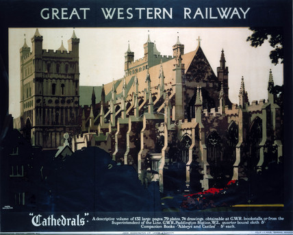 'Cathedrals', GWR poster, 1923-1947.