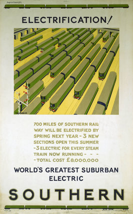 'Electrification', poster, 1925.