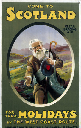 'Come to Scotland', LNWR/Caledonian Railway poster, 1923-1947.