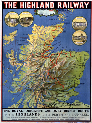 'The Highland Railway', poster, 1920.
